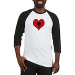I heart Table Tennis Baseball Jersey