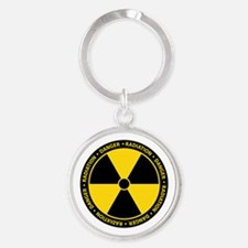 Yellow Radiation Warning Keychains