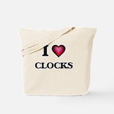 I Love Clocks Tote Bag