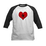 I heart Soldier Kids Baseball Jersey