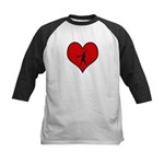 I heart Softball Kids Baseball Jersey