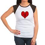I heart Softball Women's Cap Sleeve T-Shirt