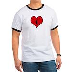 I heart Softball Ringer T