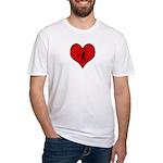 I heart Softball Fitted T-Shirt