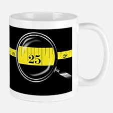 Tape Measure Border Mugs