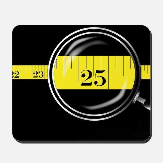 Tape Measure Border Mousepad