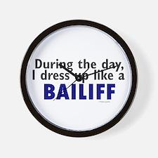 Dress Up Like A Bailiff Wall Clock