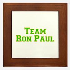 Team Ron Paul - Grn/Gold  Framed Tile