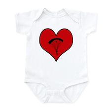 I heart Skydiving Infant Bodysuit