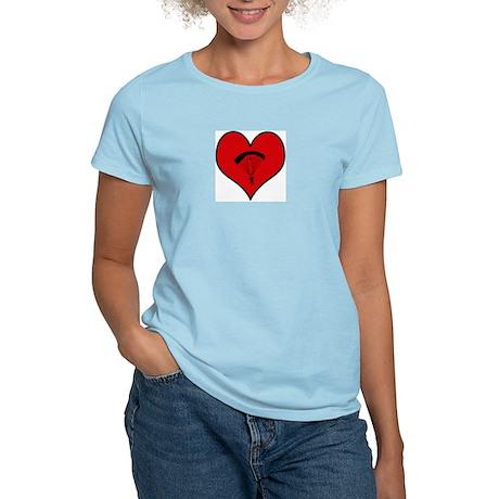 I heart Skydiving Women's Light T-Shirt