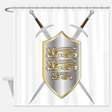 Crossed Swords and Shield Shower Curtain