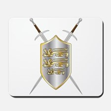 Crossed Swords and Shield Mousepad