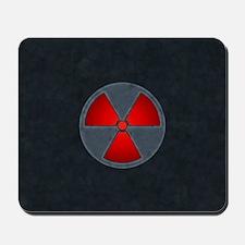 Red Radiation Symbol Mousepad