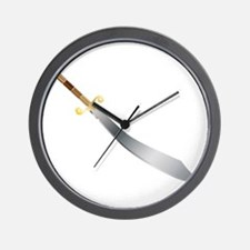 Scimitar Wall Clock