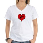 I heart Shoot Guns Women's V-Neck T-Shirt