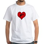 I heart Shoot Guns White T-Shirt