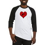 I heart Shoot Guns Baseball Jersey