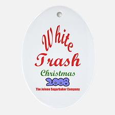 White Trash Oval Ornament