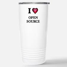 I Love Open Source Travel Mug