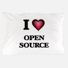 I Love Open Source Pillow Case