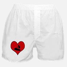 I heart Personal Watercraft Boxer Shorts
