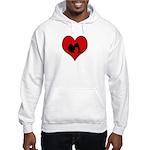 I heart Party Hooded Sweatshirt