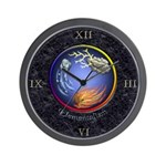 Elemental Marble Inlay Wall Clock