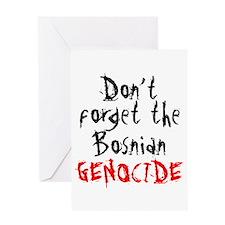 BOSNIAN GENOCIDE Greeting Card