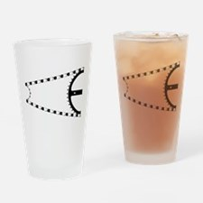 Bike Chain Drinking Glass