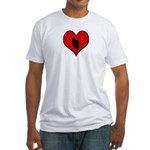 I heart Motocycle Racing Fitted T-Shirt