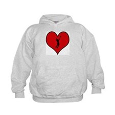 I heart Mens Volleyball Hoodie