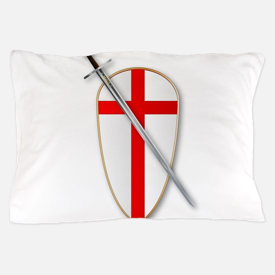 Crusaders Shield and Sword Pillow Case