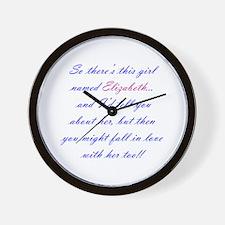 Girl Named Elizabeth Wall Clock