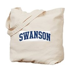 SWANSON design (blue) Tote Bag