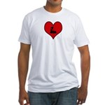 I heart Inline Skating  Fitted T-Shirt