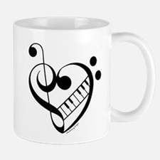 What the F? Treble with Keys Mugs