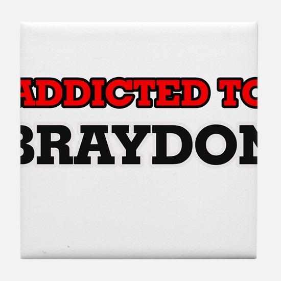 Addicted to Braydon Tile Coaster