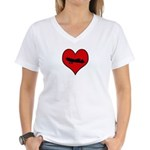 I heart Fly Women's V-Neck T-Shirt