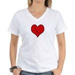 I heart Field Hockey Women's V-Neck T-Shirt