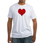 I heart Field Hockey Fitted T-Shirt