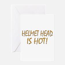 Hot Helmet Head Greeting Card