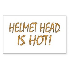 Hot Helmet Head Rectangle Decal