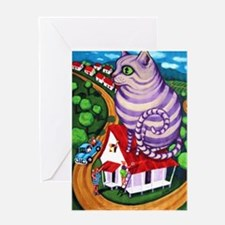 Cat on a Red Tin Roof Greeting Cards