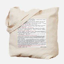 Hackers Manifesto Shirt Tote Bag
