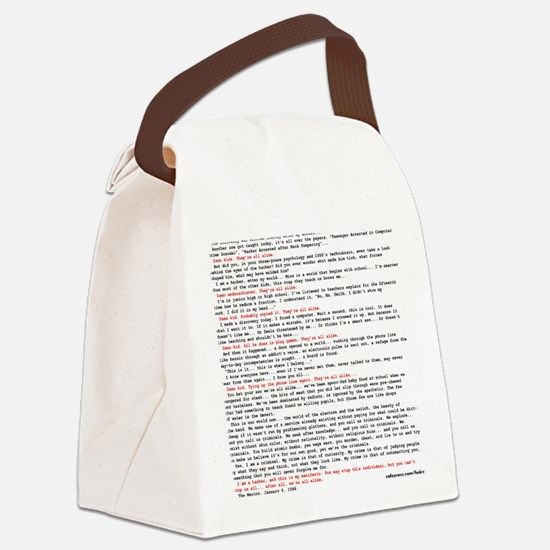 Hackers Manifesto Shirt Canvas Lunch Bag