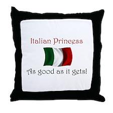 Italian Princess Throw Pillow