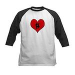 I heart Dancers Kids Baseball Jersey