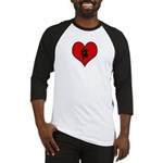I heart Dancers Baseball Jersey