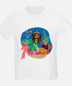 Mermaid 7th Birthday T-Shirt