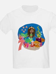 Mermaid 7th Birthday T-Shirt